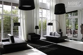 interior spacious modern monochnrome home decor with