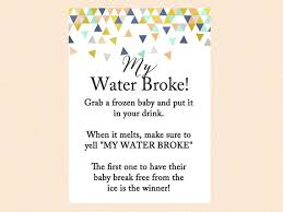 my water baby shower my water frozen baby melt the baby cube