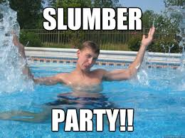 Slumber Party Meme - slumber party harry quickmeme