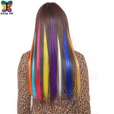 Colored Hair Extension by Online Get Cheap Highlights Hair Extensions Aliexpress Com