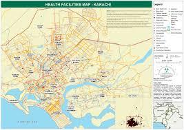 map of karachi pakistan health facilities map karachi pakistan reliefweb