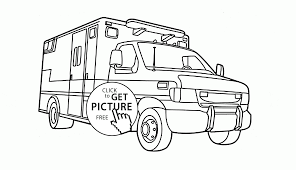 rescue vehicle coloring page for kids transportation coloring