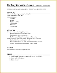 time resume exles time resume resume exles for highschool students