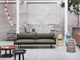 slim two seater sofa buy the muuto outline two seater sofa in fiord fabric at nest co uk