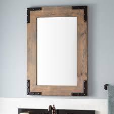 bonner reclaimed wood vanity mirror gray wash pine bathroom