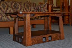 craftsman style coffee table craftsman coffee table