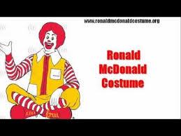 Ronald Mcdonald Halloween Costume Ronald Mcdonald Costume Fun U0026 Excitement Halloween