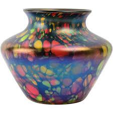Large Mosaic Vase Fenton Glass Vase 1925 Mosaic Squat Vase 3001 5 1 2 From