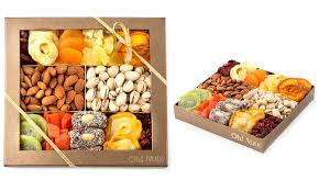dried fruit gift oh nuts nut and dried fruit gift box groupon