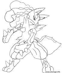 Coloriage Pokemon Mega Evolution Lucario 448 dessin