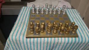 coolest chess sets my brass and aluminum chess set i made youtube