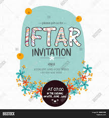 Islamic Invitation Card Creative Floral Design Decorated Invitation Card For Holy Month Of