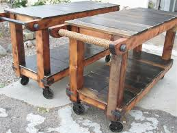 Diy Kitchen Island On Wheels by Best 20 Rustic Utility Carts Ideas On Pinterest Modern Utility