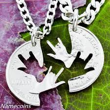 best friends puzzle necklace images Buy handmade best friend necklaces sign language jewelry deaf jpg