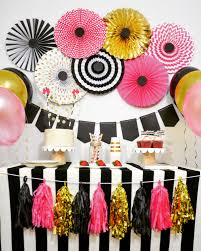 Pink And Black Sweet 16 Decorations New Year Party Decorations Anniversary Engagement Birthday