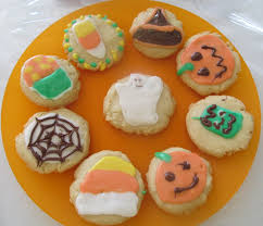 halloween amish butter cookies with easy sugar glaze no cutter
