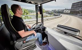 electric semi truck mercedes benz tesla looking to electric self driving buses car