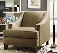 Microfiber Fabric Upholstery Modern Tan Microfiber Fabric Upholstered Swoop Armchair U2013 Modhaus