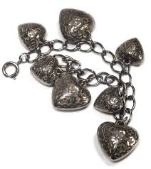 heart bracelet charms images Puffy hearts the classic silver heart charm bracelet charms guide jpg