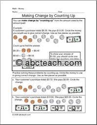 making change math worksheets u0026 money worksheets