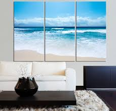 Dry Basement Wave Large Wall Art Ocean Beach And Wave Canvas Print Seascape