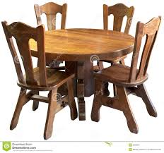 solid wood kitchen table set isolated royalty free stock photo