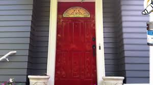high gloss red door paint youtube