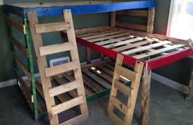 Pallet Bunk Beds Diy Pallet Loft Bed Bed Linen Gallery
