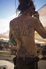 traditional hippie tree tattoo on back for men picsmine