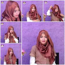 tutorial hijab turban untuk santai tutorial hijab pashmina simple untuk jalan jalan wide shawl simple