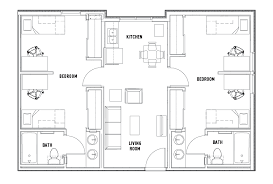 2 bedroom home floor plans floor plans the callaway house housing tx