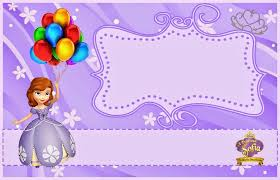 sofia the birthday free printable princess sofia the birthday invitations