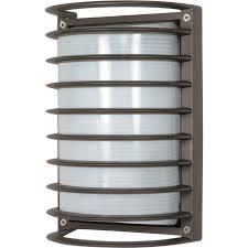 Dark Sky Outdoor Lighting Fixtures by Nuvo 60 577 1 Light Die Cast Rectangular Caged Bulkhead Light