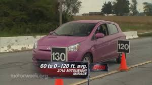 motorweek road test 2015 mitsubishi mirage youtube