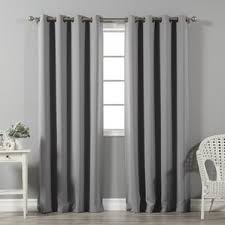 Light Grey Blackout Curtains Gray And Silver Curtains U0026 Drapes You U0027ll Love Wayfair