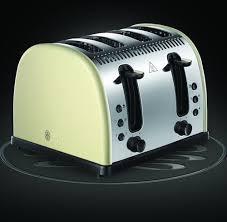 Cream 4 Slice Toaster Russell Hobbs Legacy 4 Slice Toaster Cream Model 21302