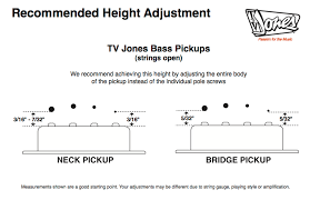 tv jones recommended height adjustment tv jones