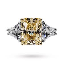coloured gemstone rings images Carat canary yellow coloured gemstone ring set in 9 carat white