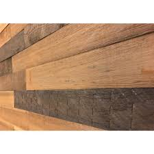 Decorative Wall Panels Home Depot by 3d Holey Wood 50 5 16 In X 28 In X 12 In Brown Reclaimed Wood