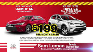 toyota lease sam leman toyota youtube