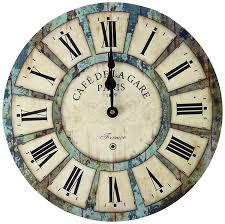 Wooden Wall Clock Amazon Com Eruner 12 Inch Vintage Wood Wall Clock France Paris