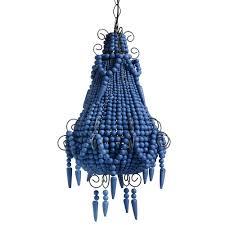 bead chandelier chandelier in royal blue