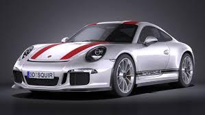 porsche sports car models 911 r 3d model