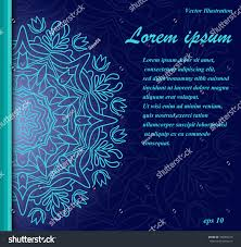 handdrawn banner mandala ornament template cards stock vector