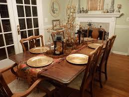 autumn table decor grey wood dining table farmhouse dining table