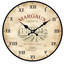 pendule de cuisine horloge grand vin margaux provence arômes tendance sud