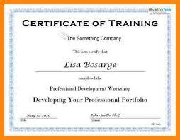 free training certificate template training certificate template