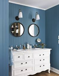 modern bathroom color ideas with white gray stained wall and white