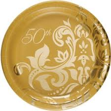 50th anniversary plates 7 inch paper plates for 50th anniversary golden couples