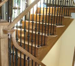 Iron Banisters Wood And Iron Balusters Custom Staircases Amron Stairs